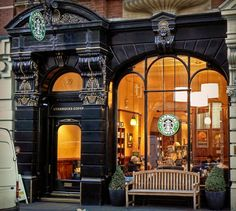 window benches, squares, london, shop front, leicest squar, cup of coffee, place, number one, starbucks