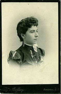 Josephine Sarah Marcus, common-law wife of Wyatt Earp.  No marriage records have ever been found.