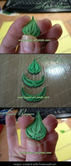 make big quilled leaves