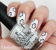 Black & white spiked nails