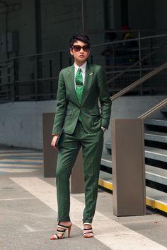 Esther Quek | green suit