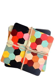 honeycomb coaster set