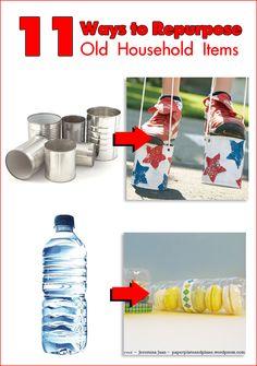 Reduce, Reuse… Repurpose That Junk! 11 Ways to Repurpose Old Household Items #recycle #reuse