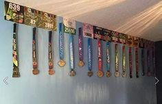 Bib and medal display