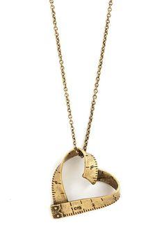 Love Beyond Measure Necklace: http://shop.1960sfashionstyle.com/love-beyond-measure-necklace/   #Gold, #LoveBeyondMeasureNecklace, #ModCloth, #1960s, #60s, #Retro, #Vintage