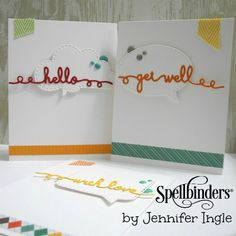 Spellbinders Sentiments Primary Card set by Jennifer Ingle
