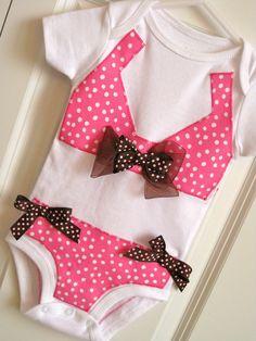 Faux Bikini Onesie Bodysuit Baby Girl