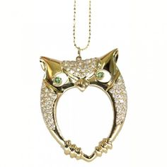owl necklace with open center