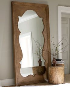 piece of plywood cut to make this shape and then glued over a mirror ...