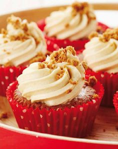 Cupcakes with Biscoff and Coffee Cream