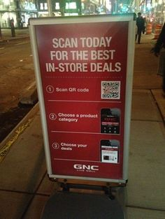 GNC is seeing some of its QR code campaigns result in more than a 40 percent redemption rate, showing how the channel can be effective for retailers when there is a high value attached in exchange for scanning.