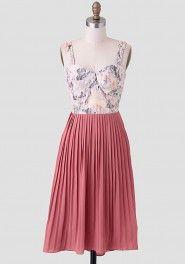 pleat dress, pink martini