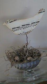 sheet music bird