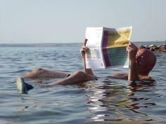 Reading in the Dead Sea