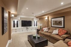 Built-ins.  My Houzz: Traditional Home With Cottage Flair - transitional - family room - Becki Peckham
