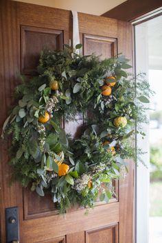 DIY Large Holiday Wreath Photo by Katie Parra Photography katieparra.com