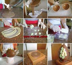 Cómo hacer un huevo de Pascua de chocolate !
