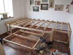 bedroom space saving idea | Lucky Pony