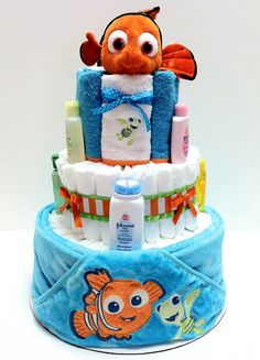 Finding Nemo Diaper Cake