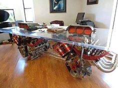 Now this is a CarGuy's desk !