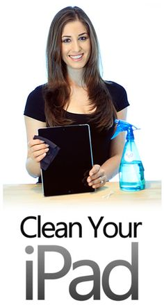 The proper way to #clean an #iPad!  Don't use products, your sleeve, a towel or a cotton rag.  Here's the right way to do it! #tablet
