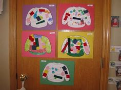 Winter sweaters -Dot Art painters & pieces of felt
