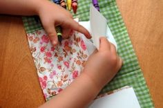 SEWING PATTERN Child's Coloring Wallet PDF Download by JCasaSHOP