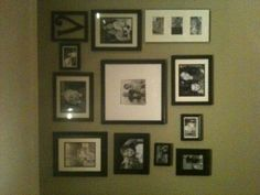 Black and White picture wall .
