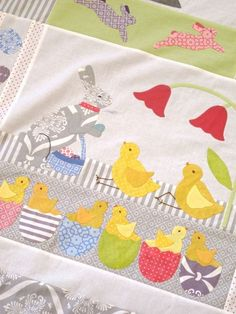 Block from our Chicks Jubilee Quilt sample. Kits available at www.hollyhillquiltshoppe.com