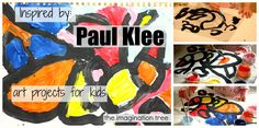 Abstract Line and Colour Paintings Inspired by Paul Klee from The Imagination Tree