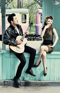 rockabilly couple   Rockabilly Fashion / Cute couple