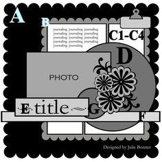 Cricut Inspired Scrapbook Layouts: Cricut CUT Files