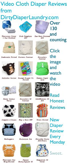 Dirty Diaper Laundry's cloth diaper review videos