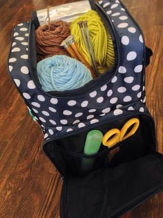 Thirty one pack n pour as a crochet/knitting tote!