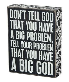 Another great find on #zulily! 'Big God' Box Sign by Primitives by Kathy #zulilyfinds