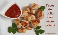 Tacos de pollo con salsa picante - http://www.thermorecetas.com/2014/02/15/tacos-de-pollo-con-salsa-picante/