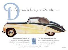 Daimler Car Advert 1951