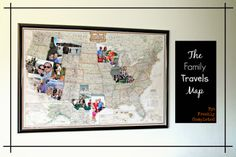 DIY-- The Family Travels Map