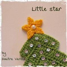 Crochet little star libraries, crochet christmas, star pattern, holidays, appliques, crochet patterns, holiday crochet, christmas trees, christmas stars