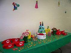 Super Mario Cake & Goodie Table