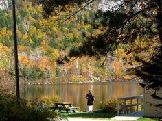 state parks, echo lake, place, hampshir