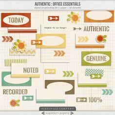 Authentic: Office Essentials freebie from Sugarplum Paperie