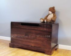 Wood Toy Chest or Blanket Box by PassionForWood on Etsy, $200.00