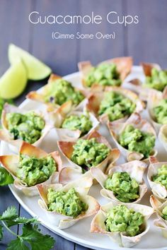 Guacamole Cups, perfect for Christmas entertaining, December being the season for avocados.