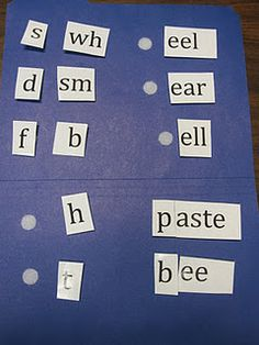 Sound Identification and Sound Blending folder activity for increasing phonological awareness