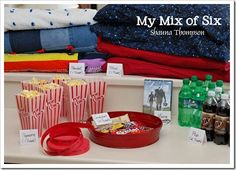 At Home Family Movie Night -- Kids do chores during the day to earn tickets they can use for getting into the movie and concessions. Fun idea activities-for-kids