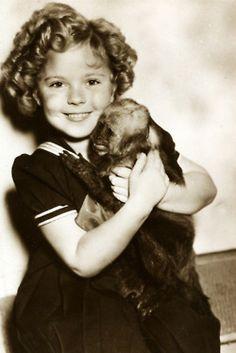 Shirley Temple & monkey