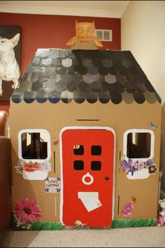 Cardboard Toy house - unlimited possibilities! Get large boxes at appliance stores. Upcycle/Recycle/Repurpose