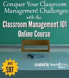 Learn how to control a disruptive class!  Classroom Management Online Course | Teach 4 the Heart
