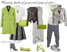 wearing shades of grey with a pop of color   40plusstyle.com